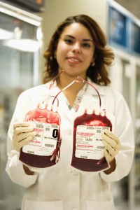 Laboratory Technician with Blood Donations